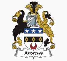 Andrews Coat of Arms / Andrews Family Crest Kids Tee