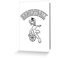Basketball warriors player ball sports Greeting Card