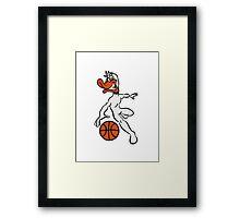 Basketball ball sports fighter Framed Print