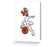 Basketball ball sports fighter Greeting Card