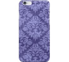 Grungy Blue Damask iPhone Case/Skin