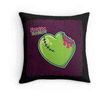 Friday on Elm Street - Zombie Heart Pillow Throw Pillow