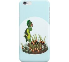 Greeny chases rabbits of his carrot patch ( 760 Views) iPhone Case/Skin