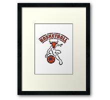 Basketball ball sport Framed Print