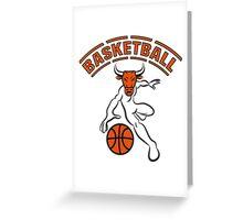 Basketball ball sport Greeting Card