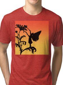 fairy silhouette on sunset Tri-blend T-Shirt