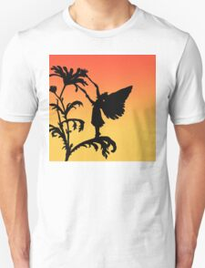 fairy silhouette on sunset Unisex T-Shirt