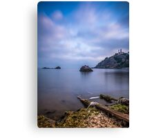 Seascape from a boat dock Canvas Print