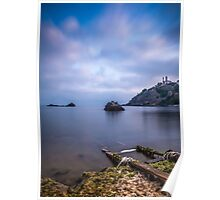 Seascape from a boat dock Poster
