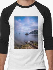 Seascape from a boat dock Men's Baseball ¾ T-Shirt