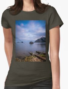Seascape from a boat dock Womens Fitted T-Shirt