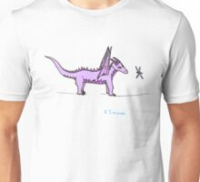 Dragon Puzzling over a Dragonfly Unisex T-Shirt