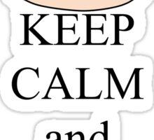 Keep calm and love corgis Sticker