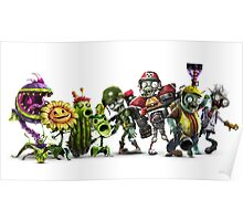 plants vs zombies all Poster