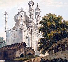 A Mosque at Gazipoor by Bridgeman Art Library