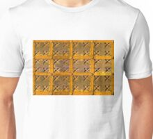 Old metal and wood medieval background Unisex T-Shirt