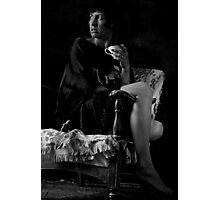 Woman on Chair  Photographic Print