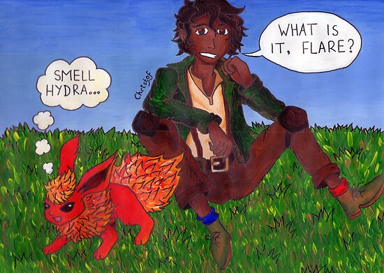 Leo Valdez And Flareon 2 by ChrisNeal