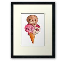 Sugar Skull Ice Cream Cone Framed Print