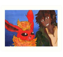 Leo Valdez And Flareon 3 Art Print