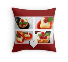 Sweet Red Currant Seducers Throw Pillow