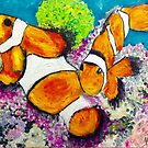Clown Fish ..these fishies are the best... by gillsart