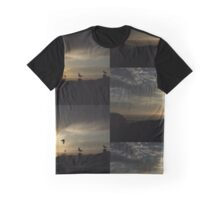 Seagull Sunset At The Nobbys Graphic T-Shirt