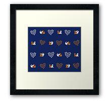 Love Cats (Indigo) Framed Print