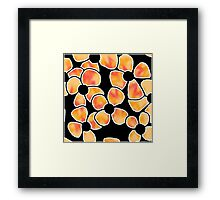 Shadow Flowers - Orange and Red Framed Print