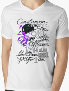 Constanoon Afterble (Purple) Mens V-Neck T-Shirt