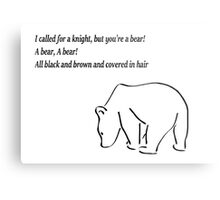 The Bear and the Maiden fair Metal Print