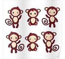 funny brown monkey  Poster