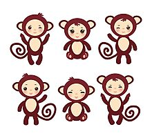funny brown monkey  Photographic Print