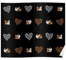Love Cats (Black) Poster