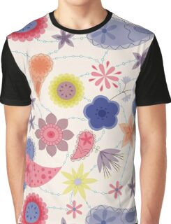 Flowers and paisley pattern vintage Graphic T-Shirt
