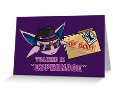 Espeonage (Pokemon) Greeting Card
