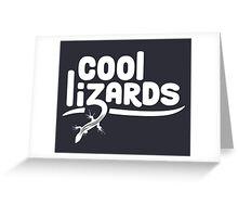 Cool Lizards Greeting Card