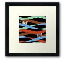 Ribbon Cats Framed Print