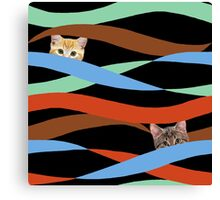 Ribbon Cats Canvas Print