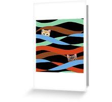 Ribbon Cats Greeting Card