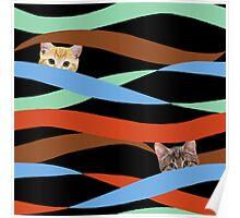 Ribbon Cats Poster