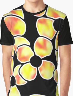 Shadow Flowers - Yellow and Red Graphic T-Shirt
