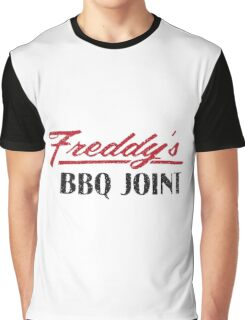 Freddy's BBQ JOINT Distressed Logo Graphic T-Shirt