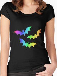 MLP - Cutie Mark Rainbow Special - Flutterbat (Fluttershy) Women's Fitted Scoop T-Shirt