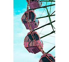 Ferris Wheel with Art Touch  Photographic Print
