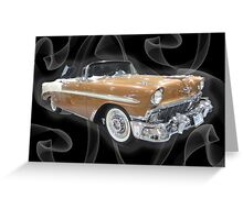 Classic 1956 Chevrolet Convertible Greeting Card