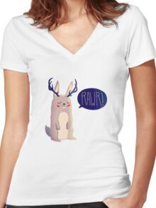 Fearsome Critter Women's Fitted V-Neck T-Shirt