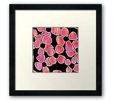 Shadow Flowers - Purple and Red Framed Print