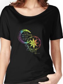 Rainbow Inspirational Dream Quote Women's Relaxed Fit T-Shirt