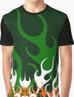 Irish Hot Rod Flames Graphic T-Shirt